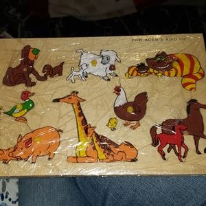 Other - Vintage Wood Puzzle